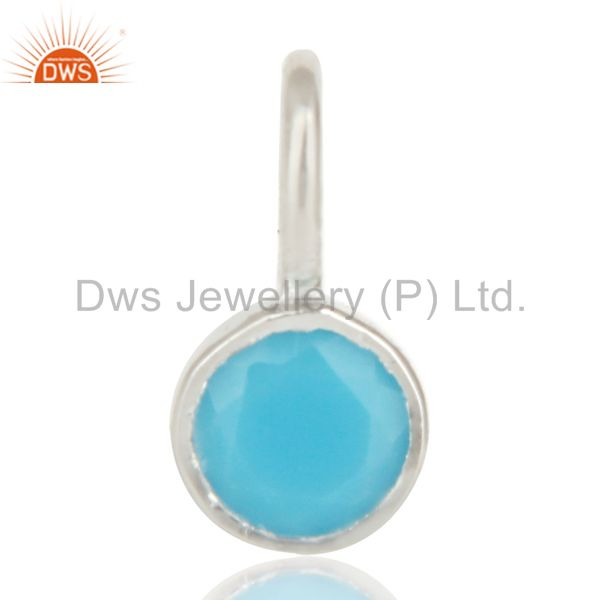 Beautiful handmade solid 925 sterling silver turquoise connector pendant jewelry
