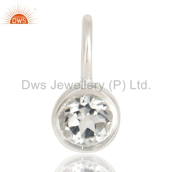 Beautiful Handmade Solid 925 Sterling Silver White Topaz Connector Pendant