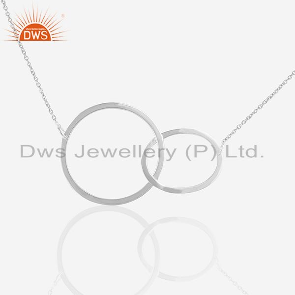 Multi Circle 925 Sterling Plain Silver Chain Pendant Manufacturers