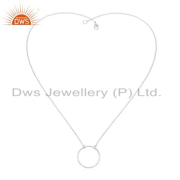 Handmade Fine Sterling Silver Round Circle Chain Pendant Manufacturer