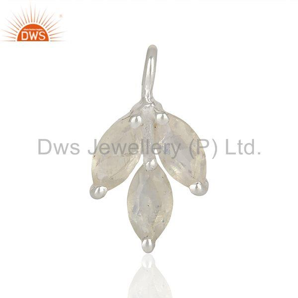 Rainbow moonstone gold plated 925 silver jewelry findings wholesale