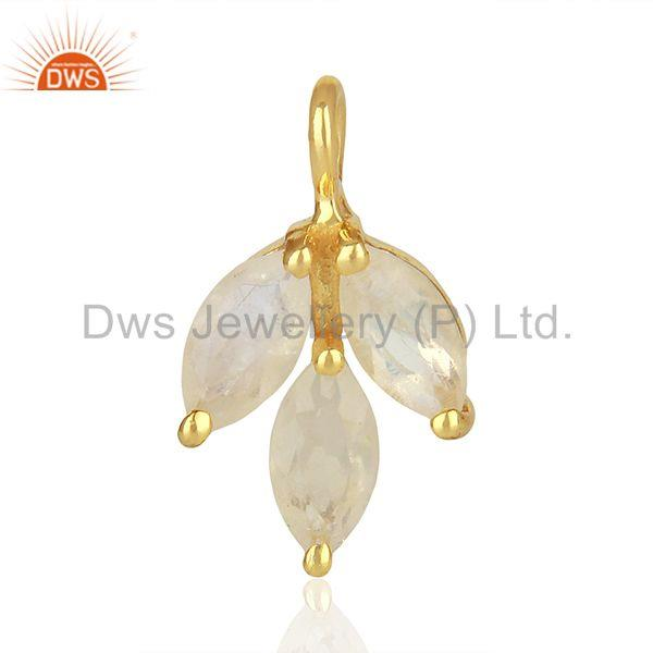 Solid 925 silver gold plated gemstone jewerly findings manufacturer