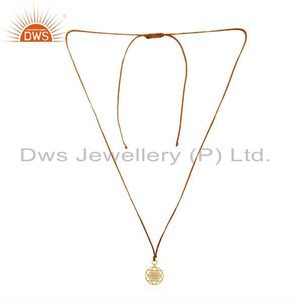 Gold Plated Sterling Silver Designer Pendant for Girl Jewelry Supplier