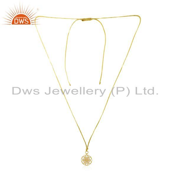 14k Gold Plated Sterling Silver Designer Girls Pendant Manufacturer