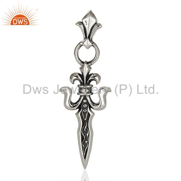 Fleur Di Lis 925 Sterling Silver Pendant And Necklace Jewelry