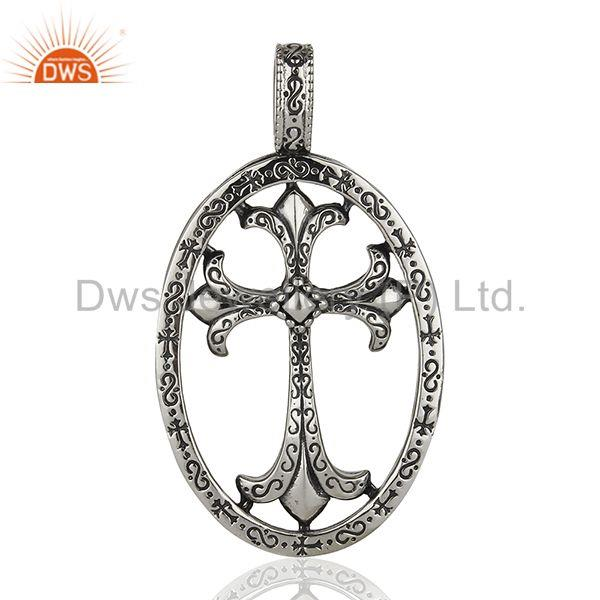 Ch cross 92.5 sterling silver pendant and necklace jewelry