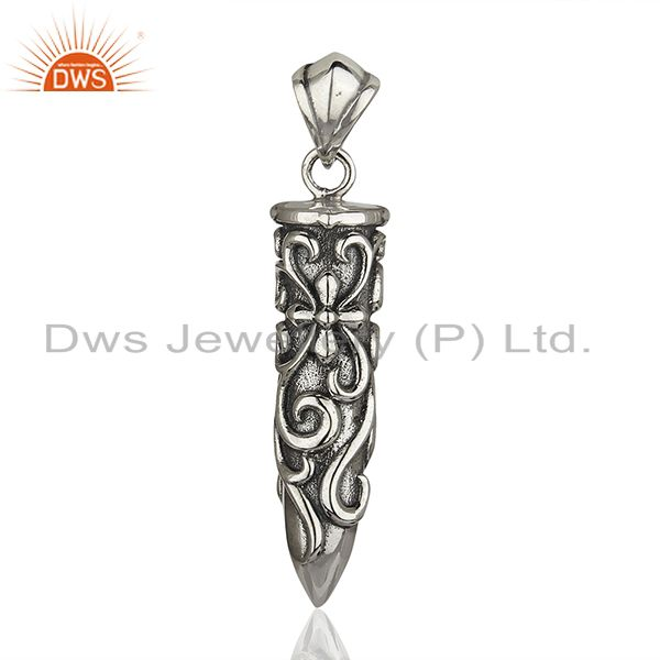 Designer 925 Sterling Silver Oxidized Handcrafted Pendant Wholesale