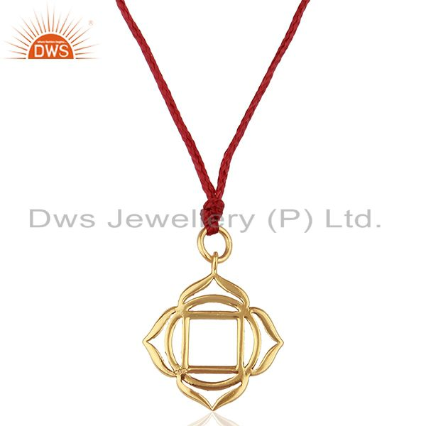 Muladhara Roots 925 Sterling Silver Silk Thread Wholesale Pendant And Necklace
