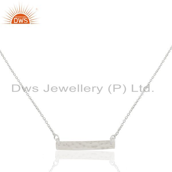 Solid 925 Sterling Silver Bar Design Pendant Jewelry Manufacturers