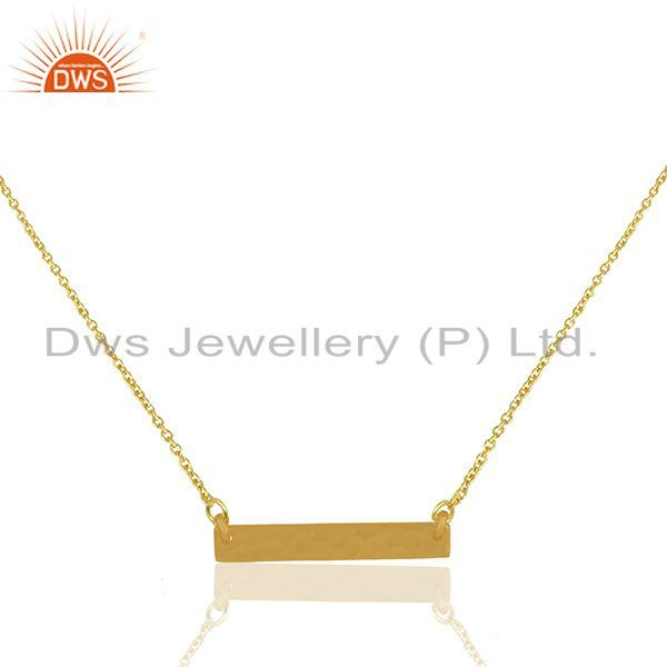 Genuine 925 Sterling Plain Silver Gold Plated Chain Pendant Wholesale