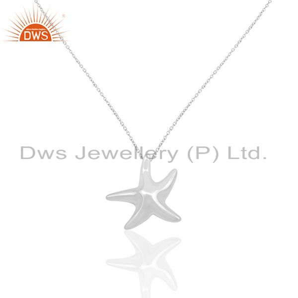 Handmade 925 sterling silver lucky star fish charm pendant manufacturers india