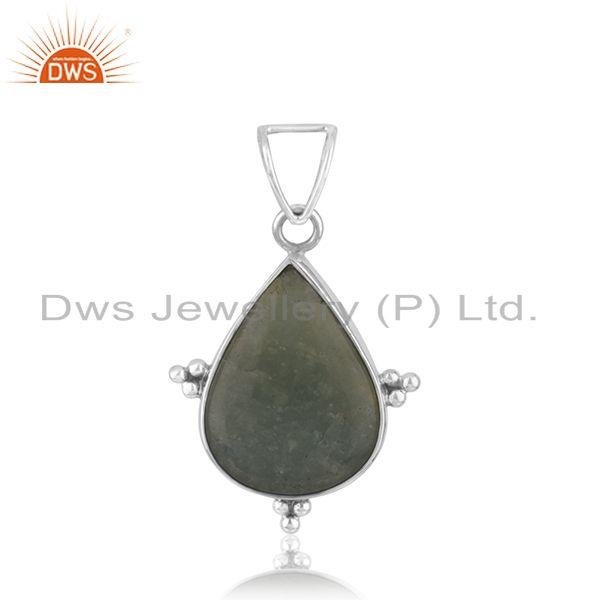 Wholesale Aquamarine Gemstone Oxidized Pendant Silver Jewelry