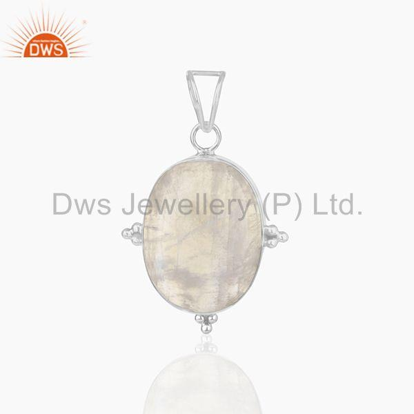 Rainbow moonstone 925 sterling silver customized pendant manufacturer from india