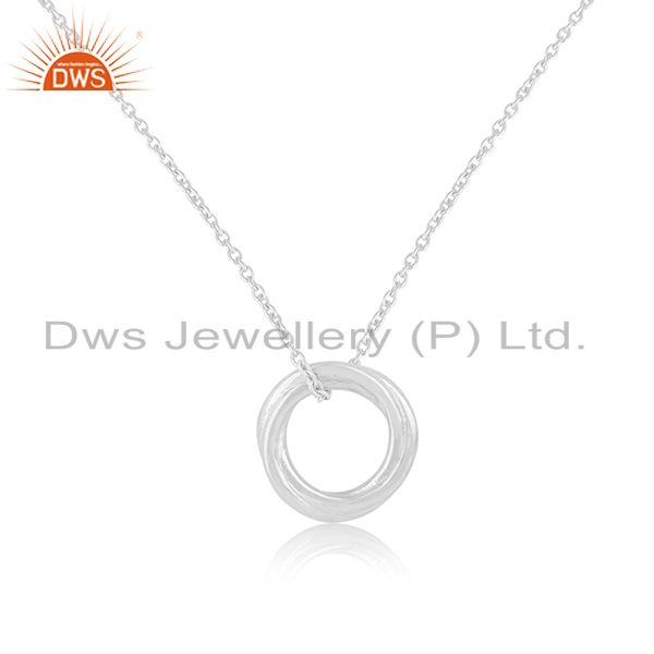Handmade 925 sterling silver designer ring pendant with chain manufacturer