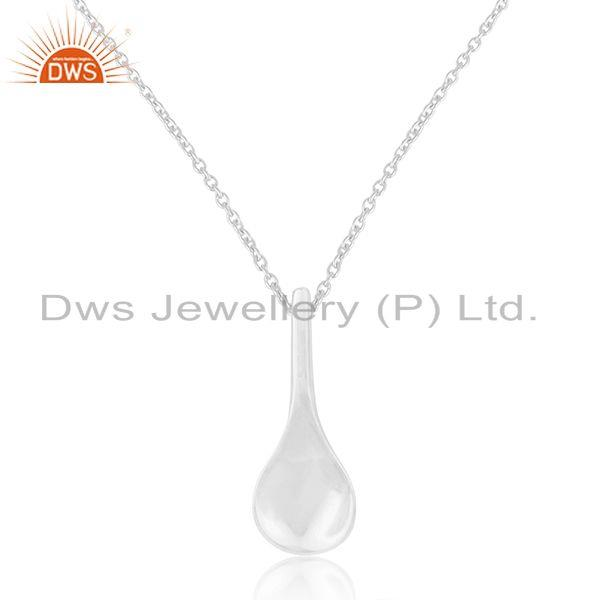 92.5 Sterling Silver Handmade Spoon Charm Pendant Charm With Chain Manufacturer