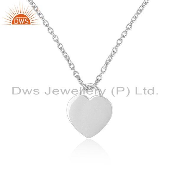Handmade 92.5 Sterling Silver Heart Lock Pendant with Chain Jewelry Manufacturer