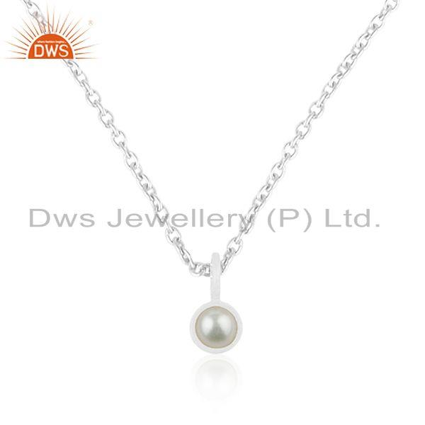 92.5 fine sterling silver chain natural pearl pendant manufacturer jaipur india