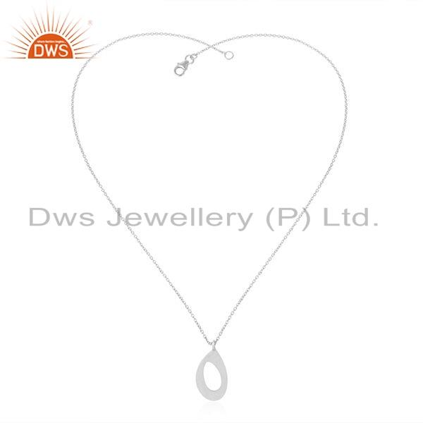 Womens 925 Sterling Silver Designer Indian Chain Pendant Jewelry