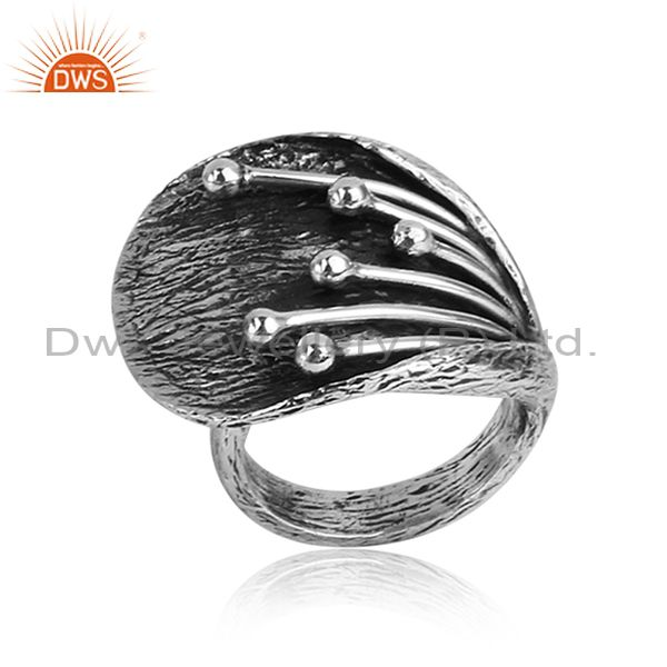 Oxidized 925 Sterling Silver Handmade Designer Classic Ring
