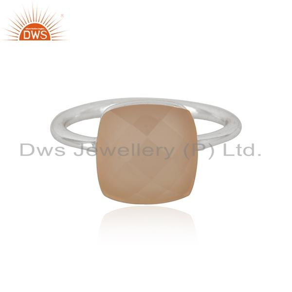 Rose Chalcedony Gemstone Handmade Sterling Silver Ring Manufacturers