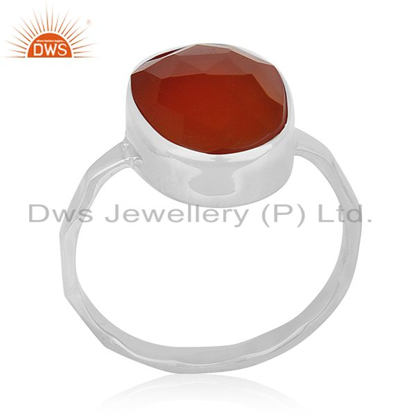 New Fine Sterling 92.5 Silver Chalcedony Gemstone Handmade Ring Manufacturer