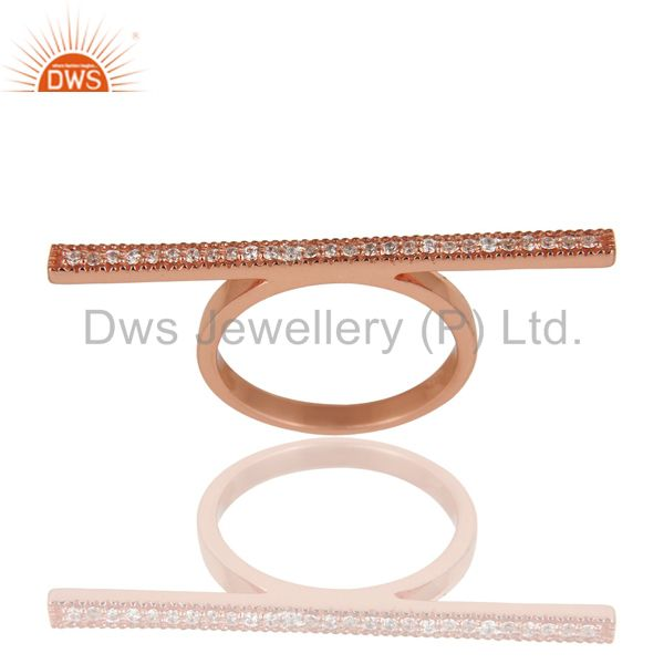 18K Rose Gold Plated 925 Sterling Silver Handmade Art Finishing Knuckle Ring