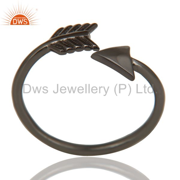 Black Oxidized 925 Sterling Silver Handmade New Fashion Design Stackable Ring