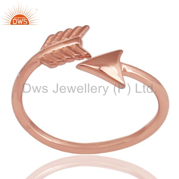 14K Rose Gold Plated 925 Sterling Silver Handmade New Fashion Design Ring