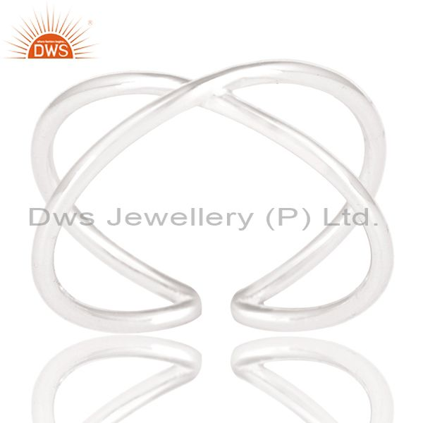 Solid 925 Sterling Silver Handmade Infinity Stylish Stackable Ring