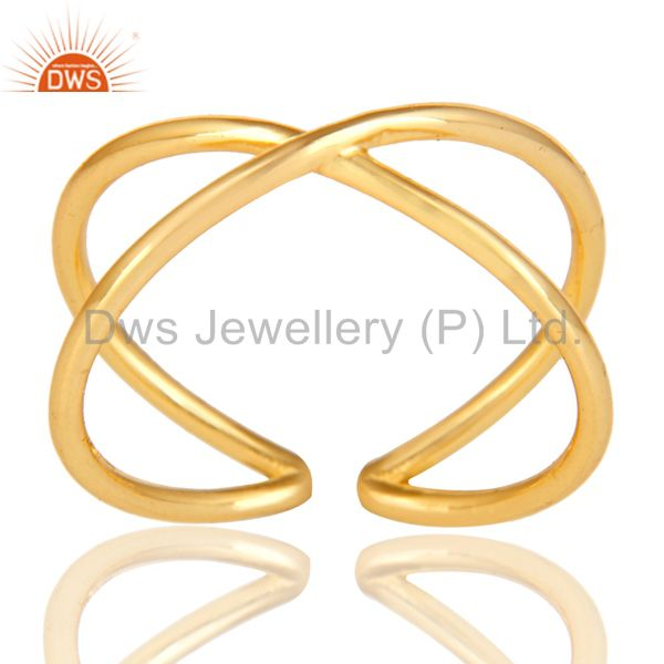 14K Gold Plated 925 Sterling Silver Handmade Infinity Stylish Stackable Ring