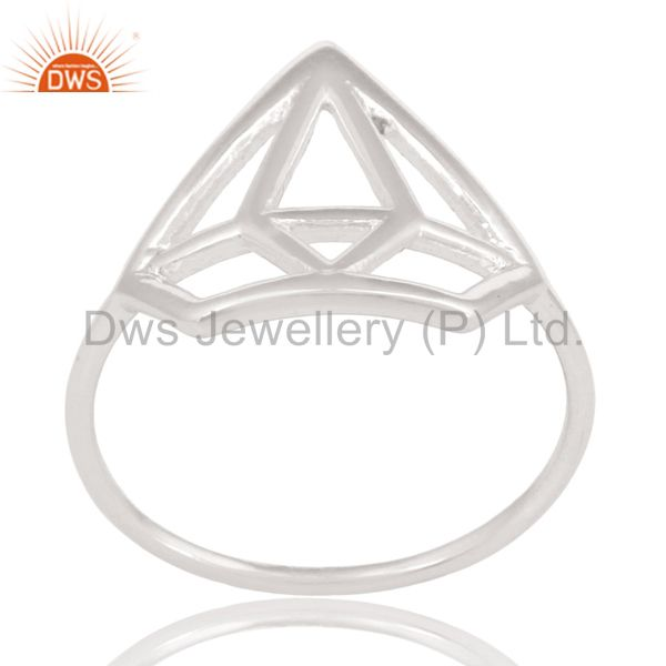 Solid 925 Sterling Silver Handmade Without Stone Style Stackable Ring