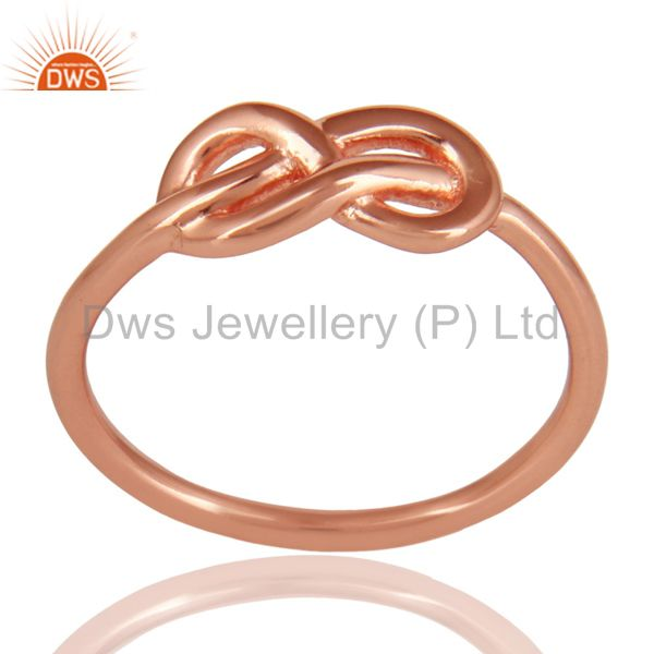 14K Rose Gold Plated 925 Sterling Silver Without Stone Beautiful Fashion Ring