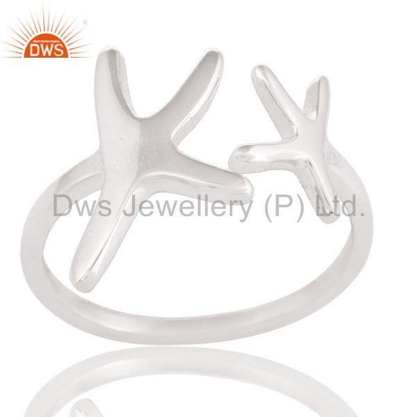 Solid 925 Sterling Silver Handmade Without Stone Fashion Stackable Ring