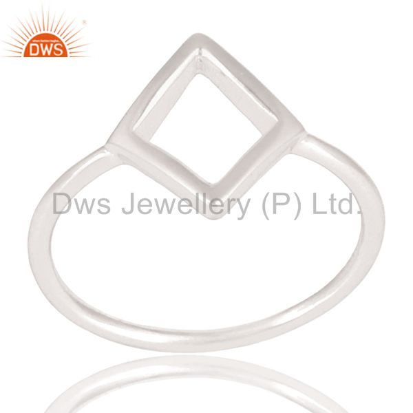Solid 925 Sterling Silver Handmade Art Without Stone Fashion Ring
