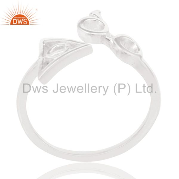 Solid 925 Sterling Silver Handmade Without Stone Stackable Ring
