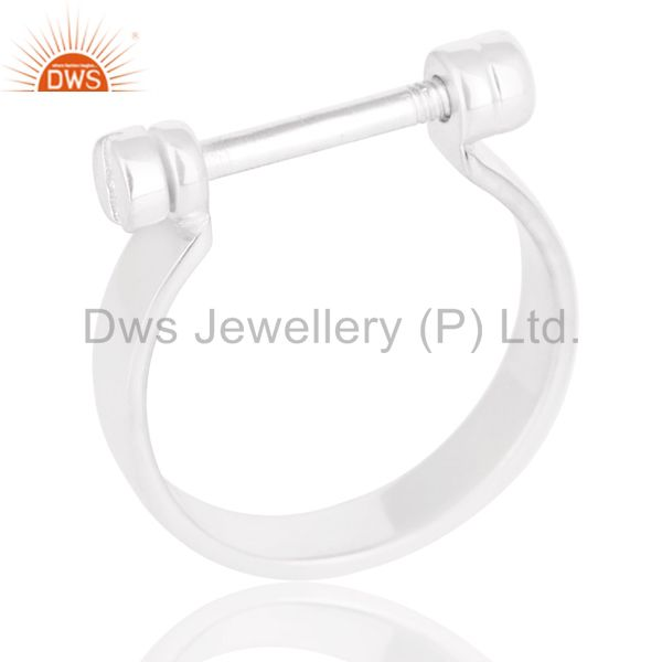 Beautiful Solid 925 Sterling Silver Handmade Lock Style Openable Ring Jewelry