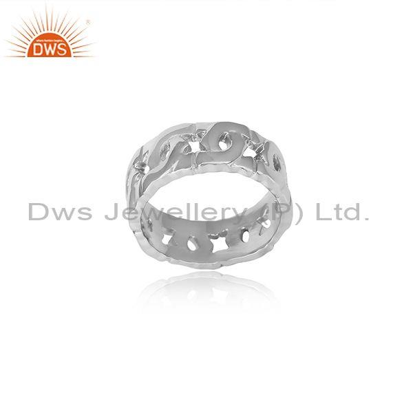 Handmade Intricate Design Fine 925 Silver Band Type Ring