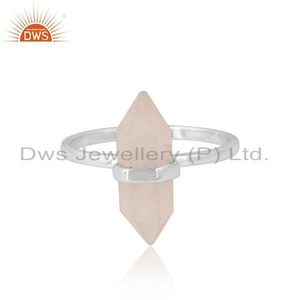 Rose quartz gemstone new arrival sterling silver ring jewelry