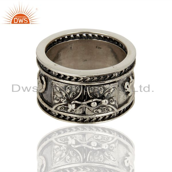 Handmade Oxidized Antique Silver Engagement Rings Manufacturer