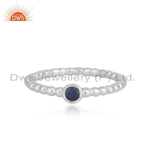 Blue Sapphire Birthstone Fine Sterling Silver Handmade Ring Wholesale