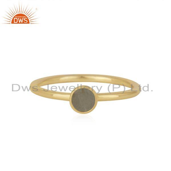 Chalcedony Gemstone Gold Plated Sterling Silver Ring Manufacturer