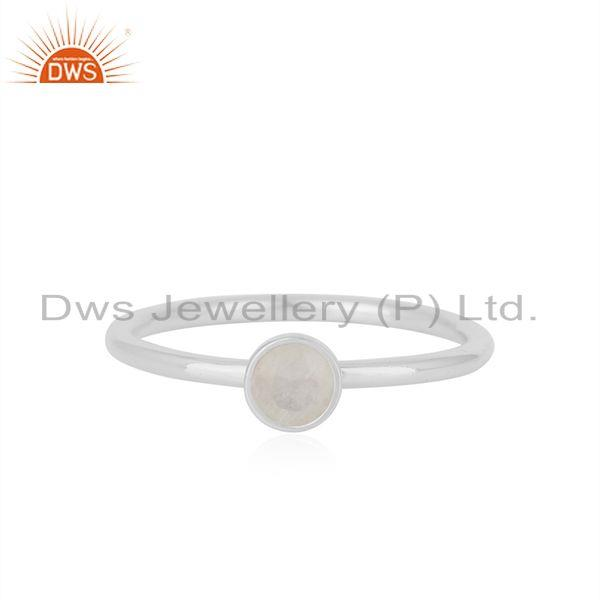 Rainbow Moonstone Fine Sterling Silver Gemstone Rings Manufacturer