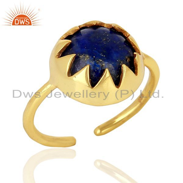 Adustable 14K Gold Plated Designer Wholesale Sterling silver Ring