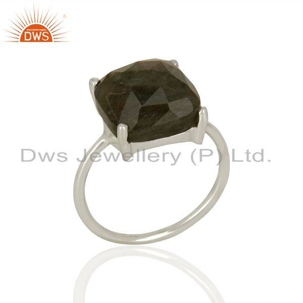 Labradorite Gemstone Sterling Fine Silver Rings Girls Jewelry Supplier