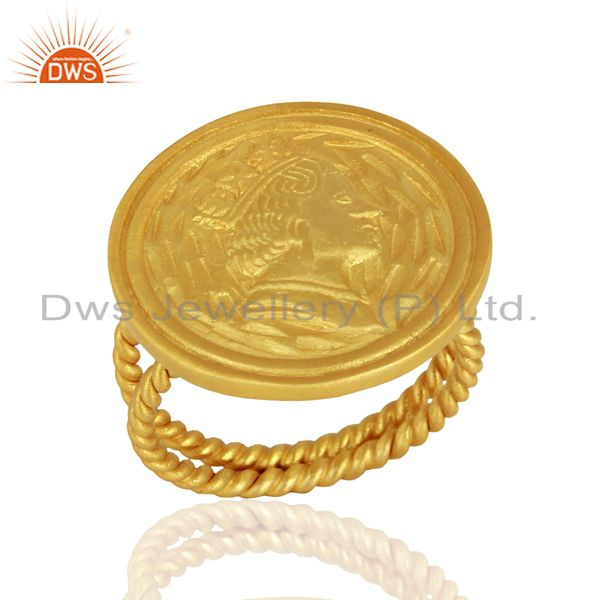 Designer Handcrafted Gold Plated Silver Fashion Ring Jewelry Supplier