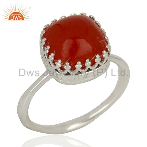 Carnelian Gemstone Ring 925 Sterling Fine Silver Engagement Ring