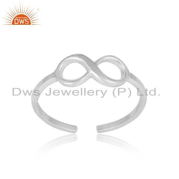 Handmade Infinite Design Sterling Silver 925 Ring Jewellery