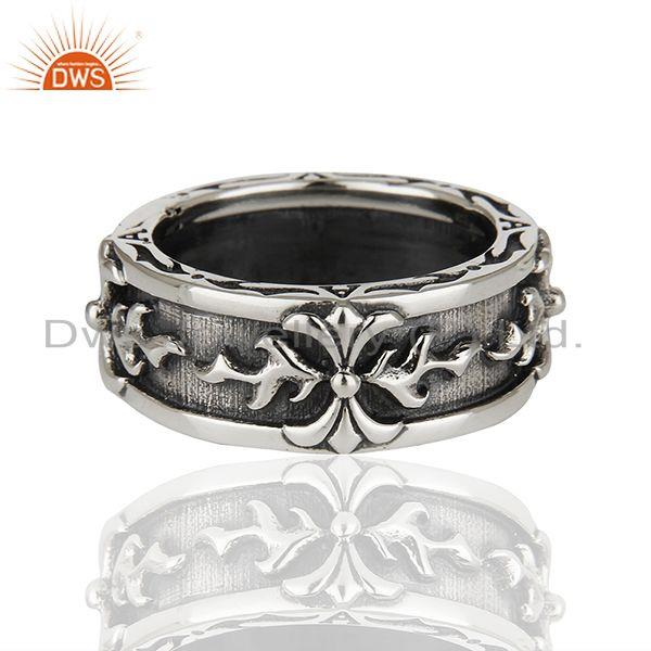 Designer 925 Sterling Silver Handcrafted Mens Promise Ring Suppliers