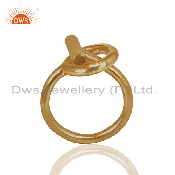 Customized 925 Silver Gold Plated Unisex Rings Jewelry Manufacturer