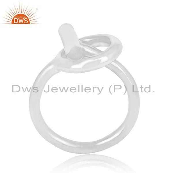 Spi 925 Sterling Silver White Rhodium Plated Ring Wholesale Jewelry